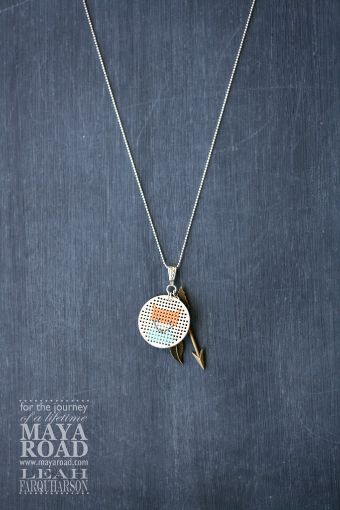 diy fox necklace maya road lea