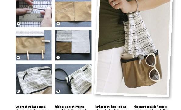make a trendy metallic leather tote