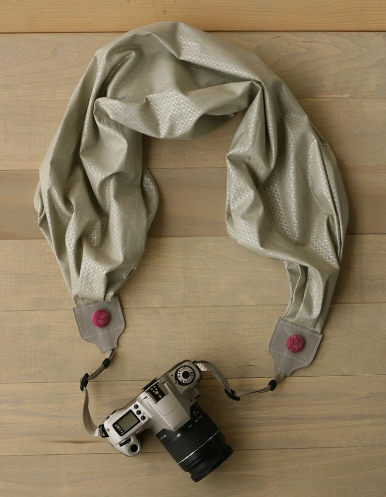 bluebirdchic silver orchid scarf camera strap - https://www.etsy.com/listing/208063794/scarf-camera-strap-silver-orchid