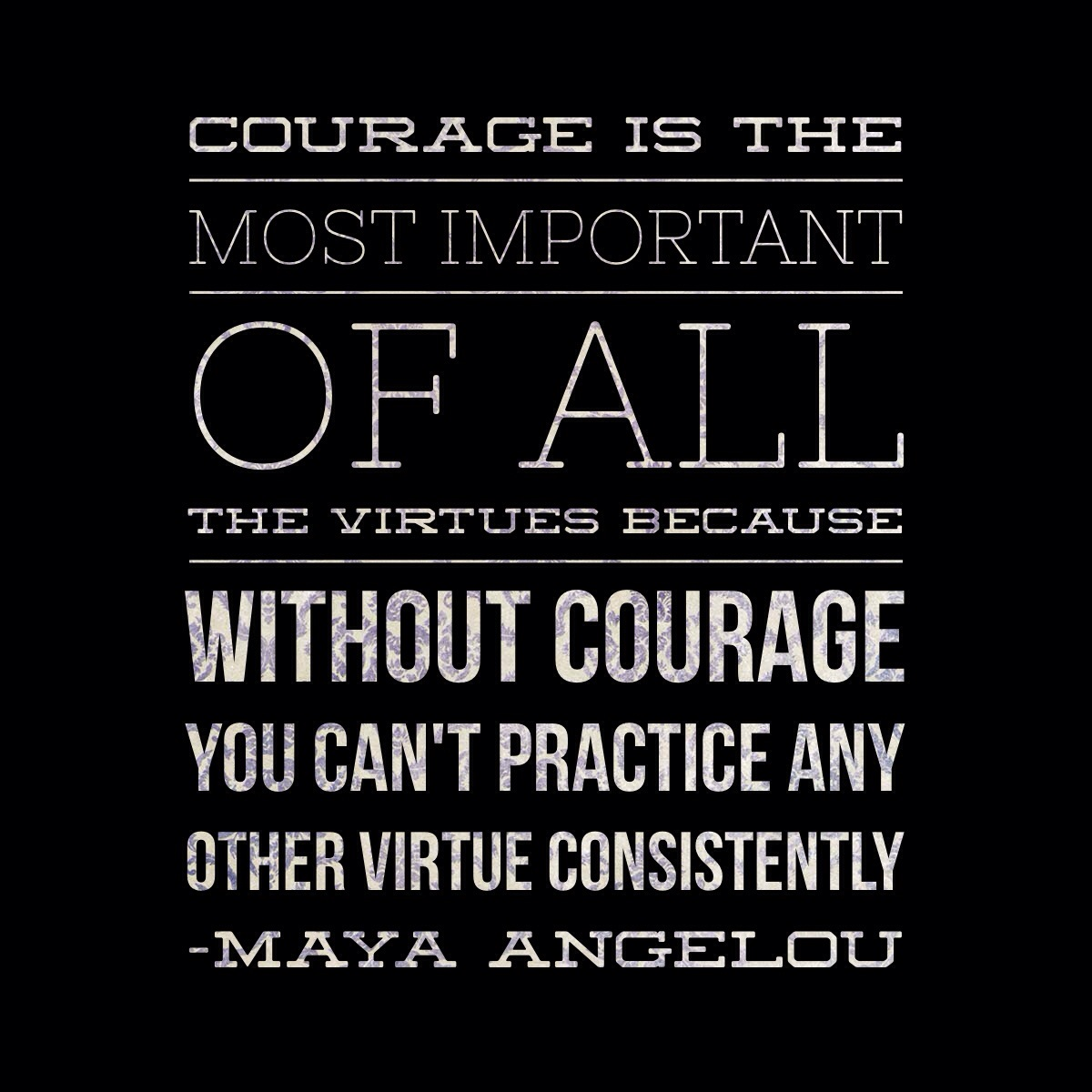 Quotes Courage The Importance Of Courage  Maya Angelou Quote