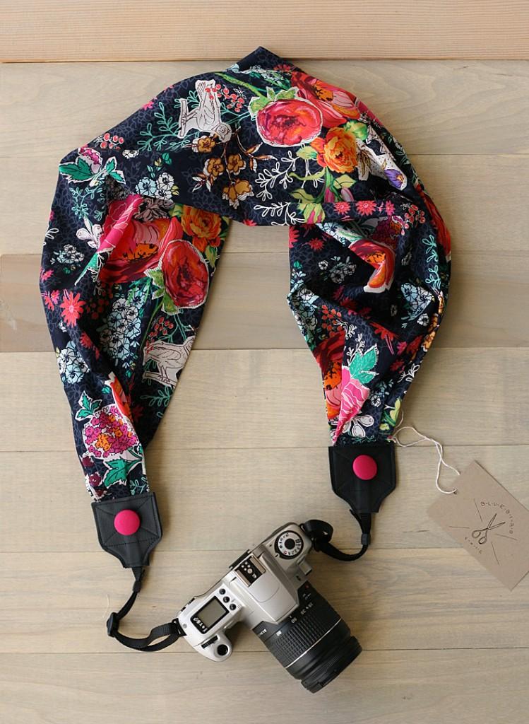bluebirdchic scarf camera strap market square - bluebirdchic.com