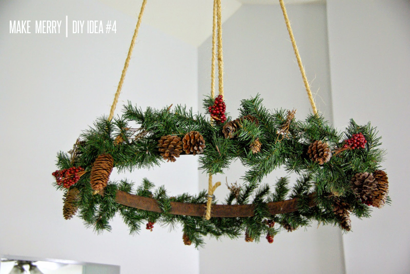 bluebird chic make merry diy 4 hanging wreath-christmas 2