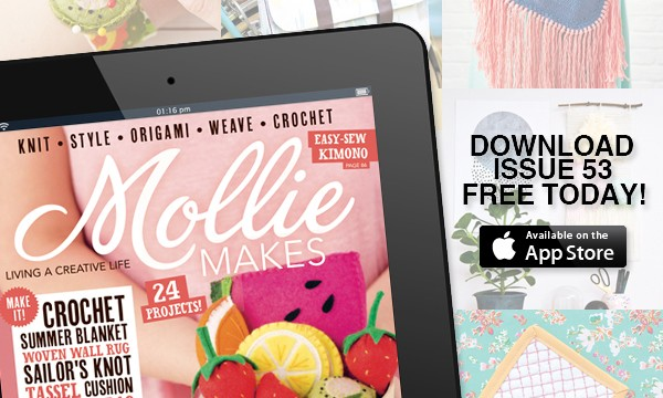 mollie makes issue 53 is free today