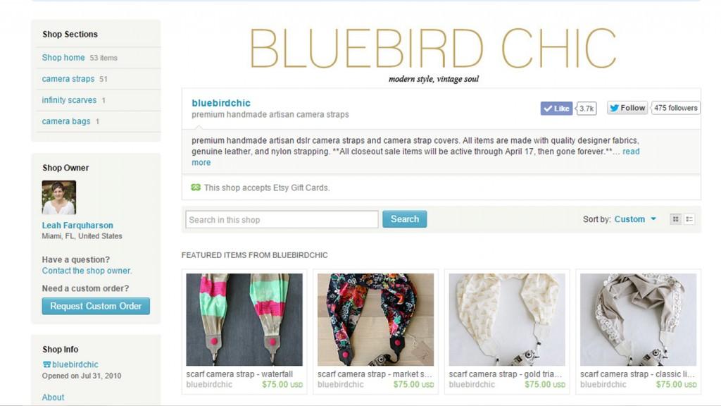 bluebird chic etsy shop
