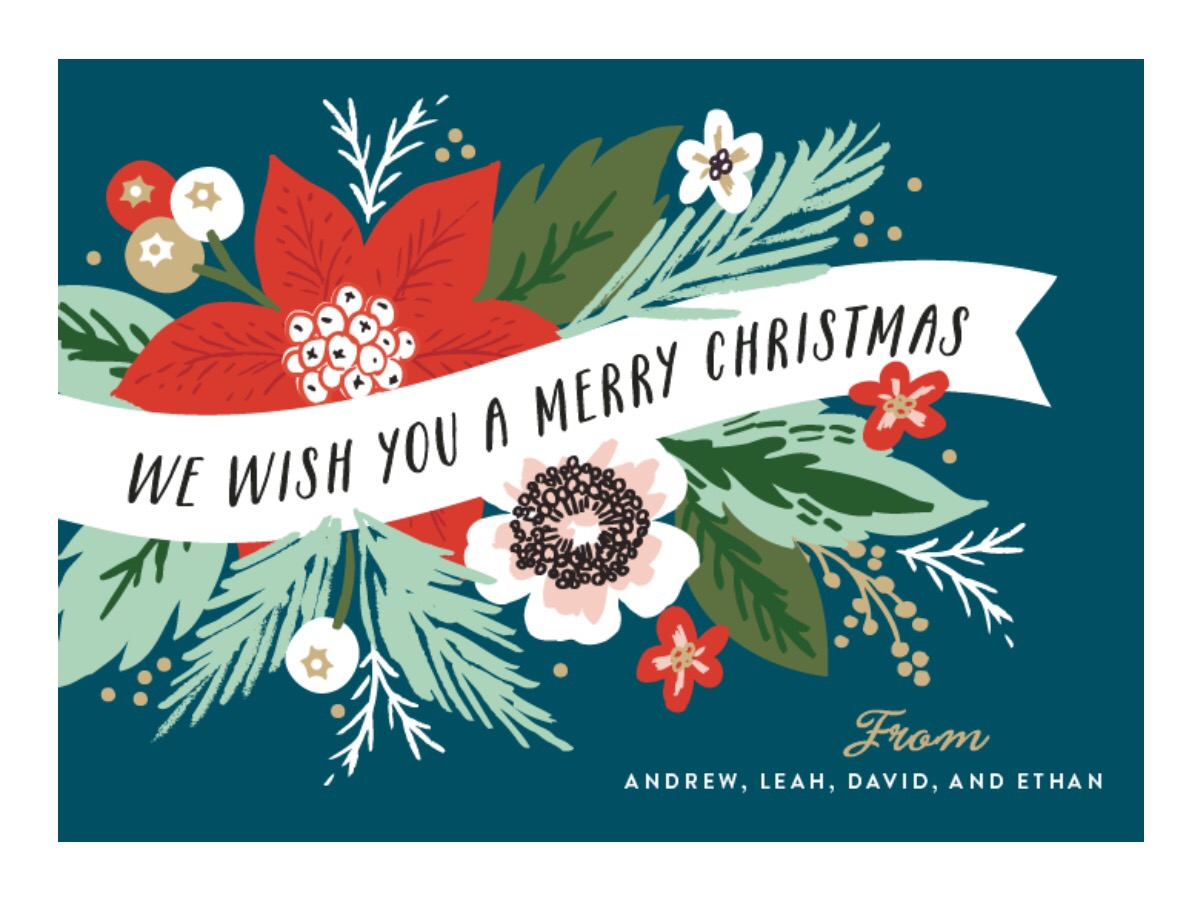 christmas from our family to yours artwork by althea and ruth for mintedcom