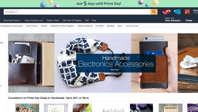 Tie-dye Indigo featured on Amazon Handmade's front page!
