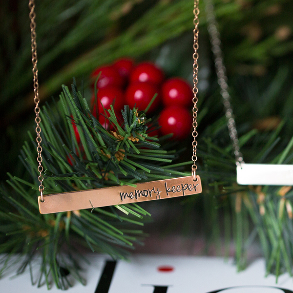 Hand Stamped Crossbar Necklaces | Click & Co. Store