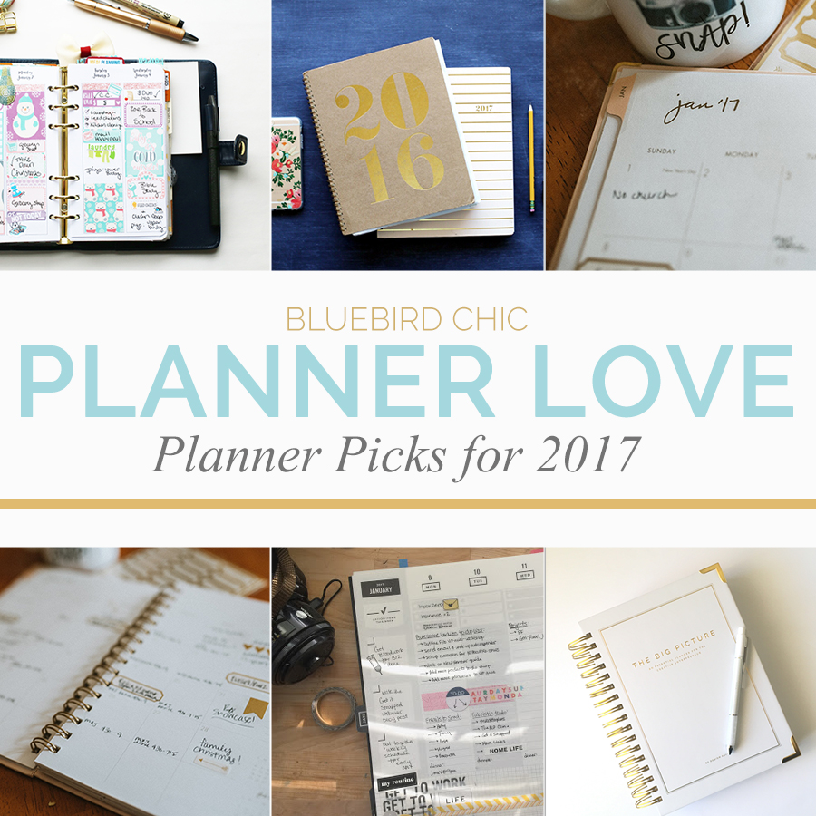Planner Love: Planner Picks for 2017 | Bluebird Chic