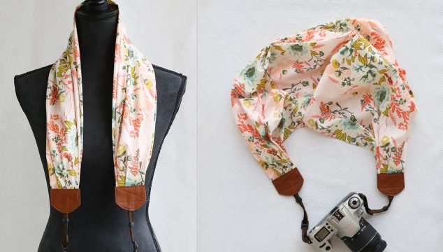 this week's featured favorite scarf camera strap – pink floral
