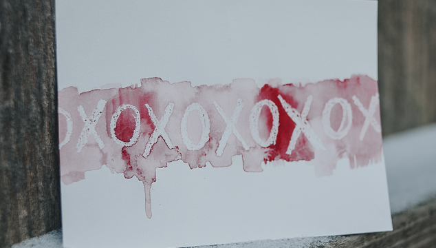 DIY Watercolor Valentine's Day Cards