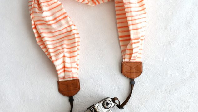 this week's featured strap – watercolor stripe peach