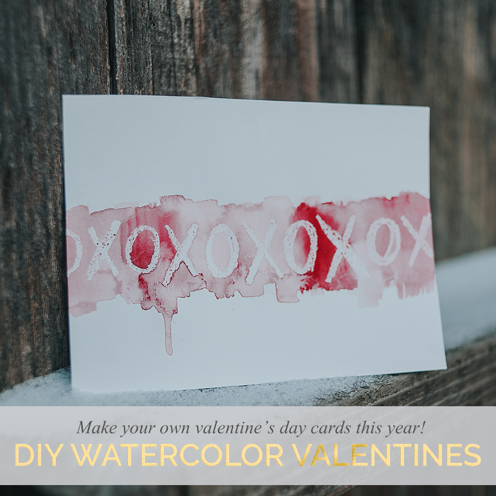 Diy Watercolor Valentines Day Cards Bluebird Chic