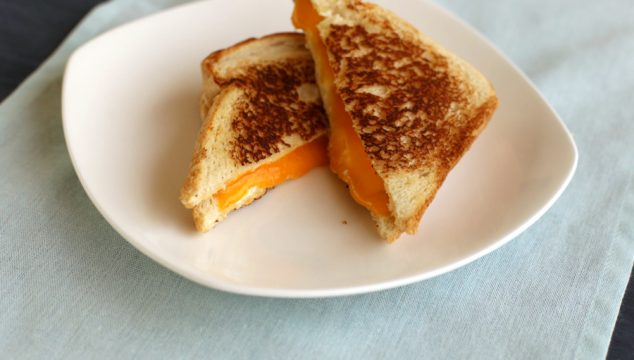 quick and comfy – our twist on the classic grilled cheese sandwich