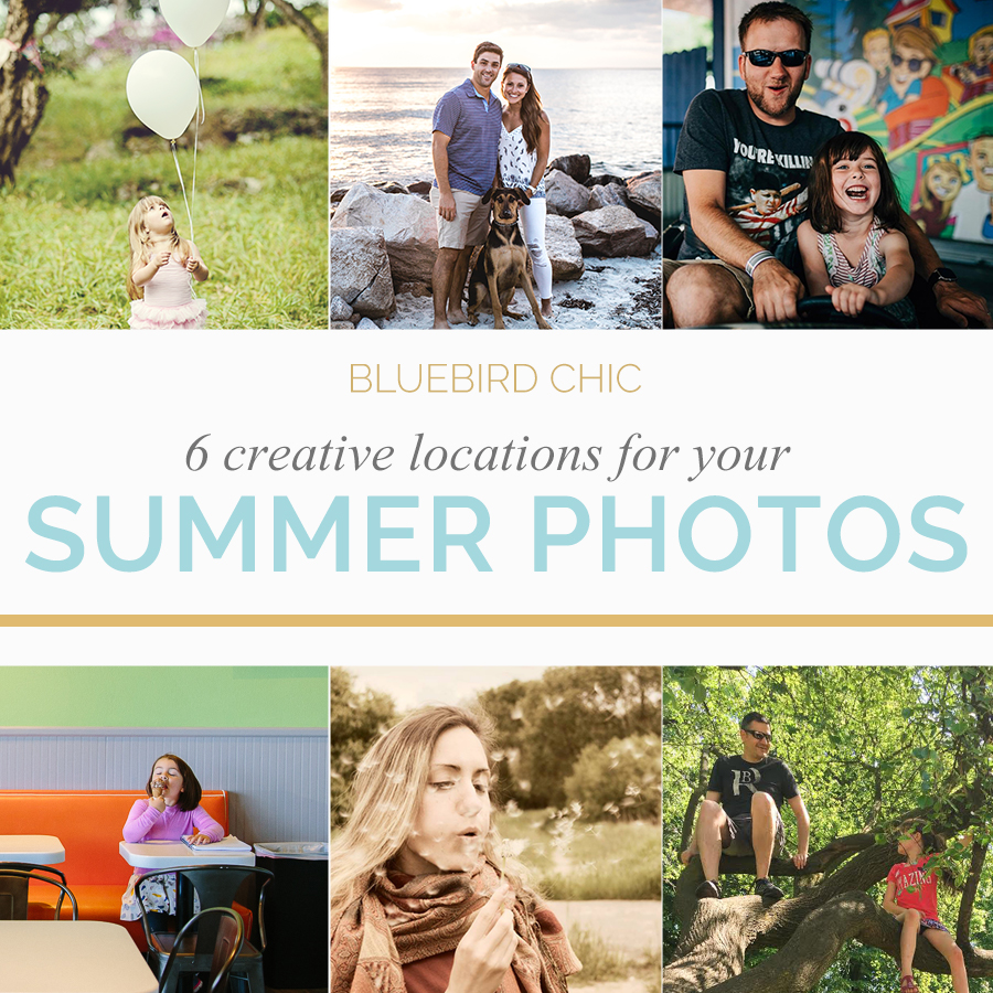 Creative Ideas for Summer Photo Locations | Bluebird Chic