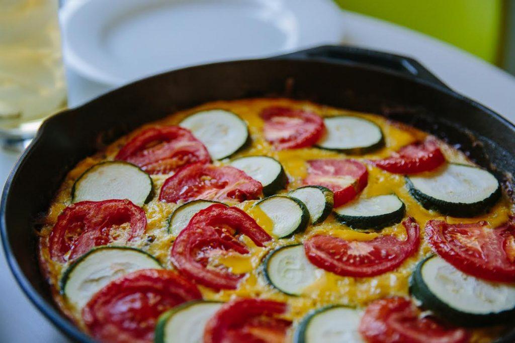 Summer 2017 Recipe Roundup | Sausage, Zucchini and Tomato Fritatta | Bluebird Chic