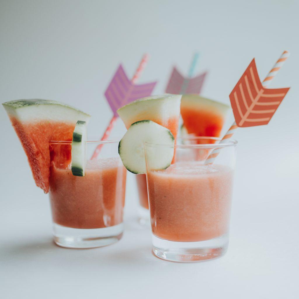 Summer 2017 Recipe Roundup | Watermelon + Cucumber Smoothie | Bluebird Chic