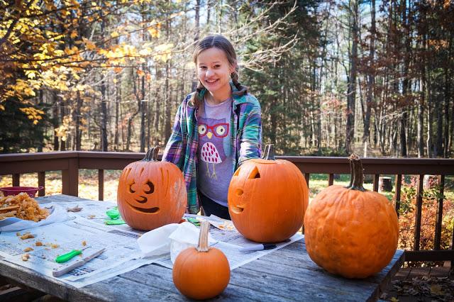 DIY: Pumpkin Carving Ideas | Jennifer Davis | Bluebird Chic