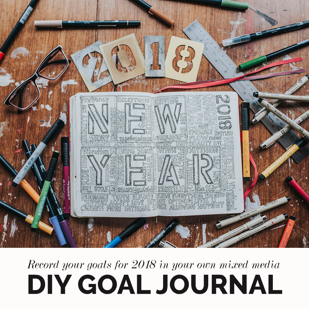 DIY: Mixed Media Goal Journal | Kimi Coopet | Bluebird Chic