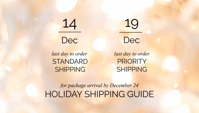 Holiday Shopping Guidelines – Deadlines to Order to Receive Packages by December 24